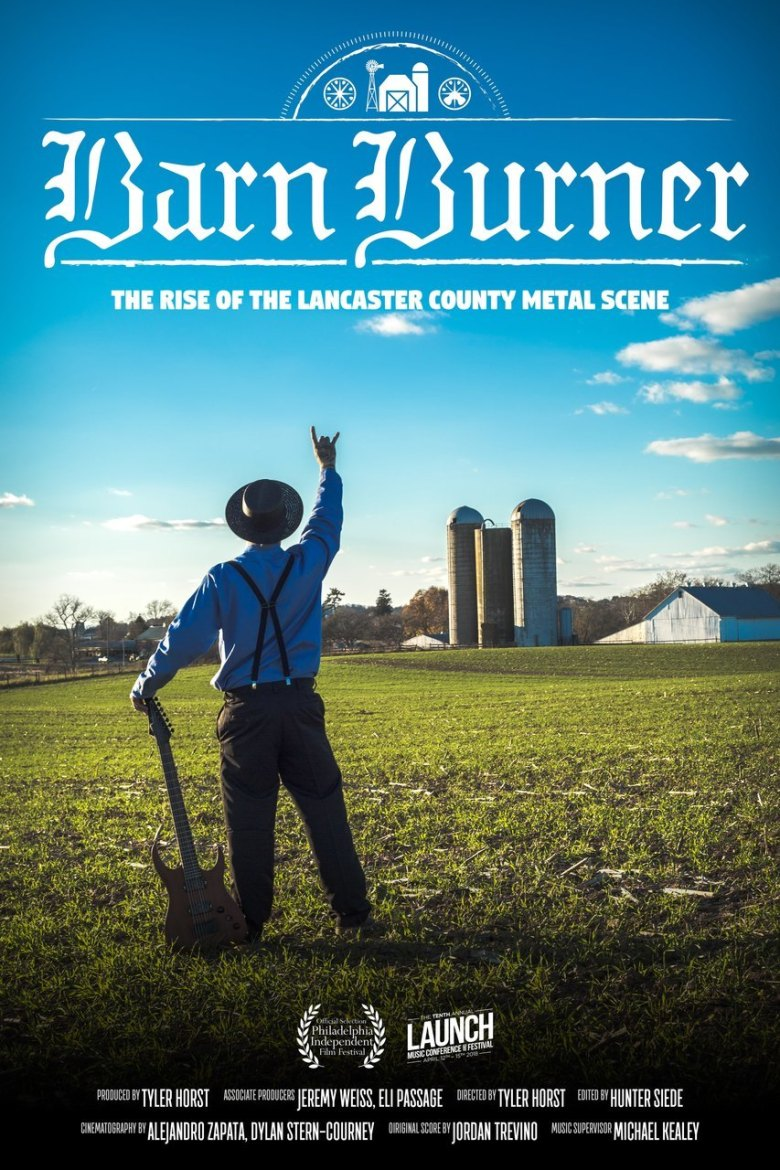 barn burner amish metal poster